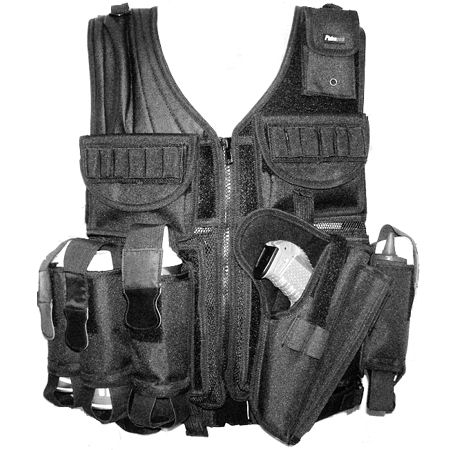 paintball vest well crafted tactical vest 4 pouches for paintball ...
